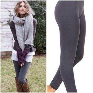 Yelete Charcoal Gray Fleece Lined Leggings S/M